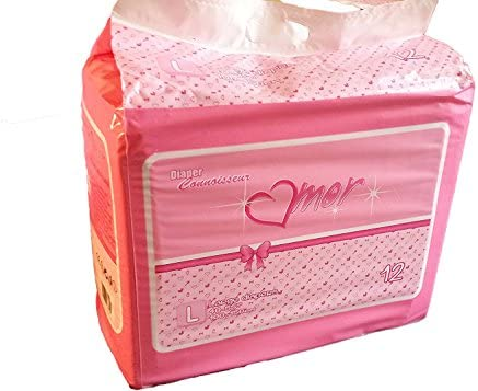 24 Diapers – DC Amor – all pink theme plastic-backed adult baby Small