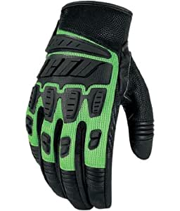 2013 Icon Hooligan Motorcycle Glove - Green - Large