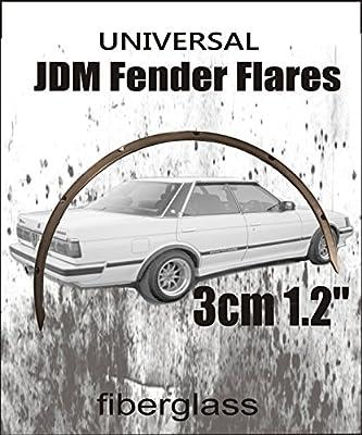 "3cm 1.2/"" 4 pieces Universal JDM Fender Flares 1.2/"" universal Fiberglass"