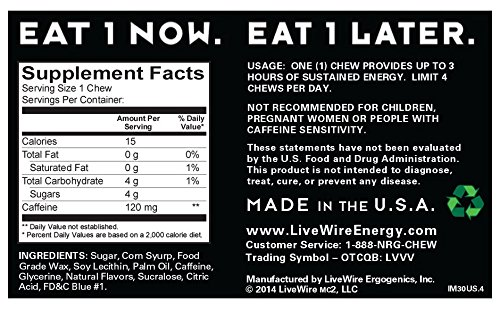 LiveWire Energy Chews 30-Count Icy Mint