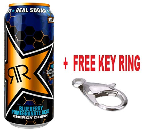 slamtech New Rockstar Xdurance Fully Loaded Blueberry, Pomegranate & Acai Energy Drink 500ml Cans (Pack of 12)