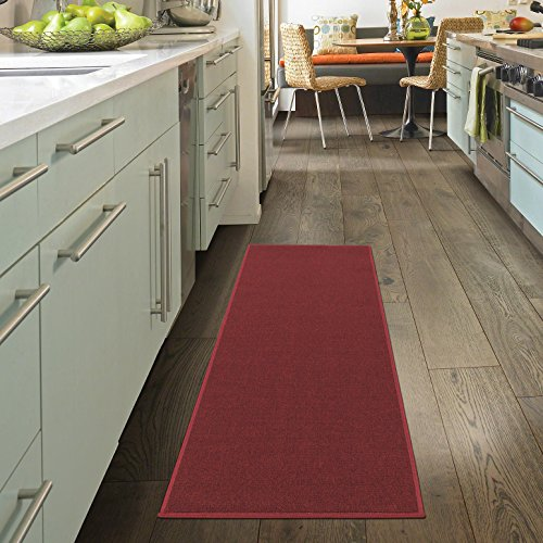 Dark Red Machine (Ottomanson OSC8500-20X59 Oscar Collection Runner Rug, 20