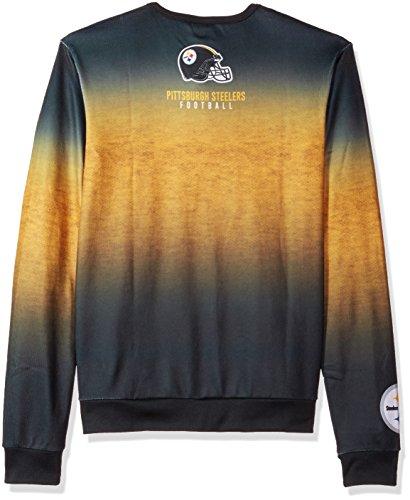 Pittsburgh Steelers bedruckt Farbverlauf Crew Neck Sweater–Herren Groß