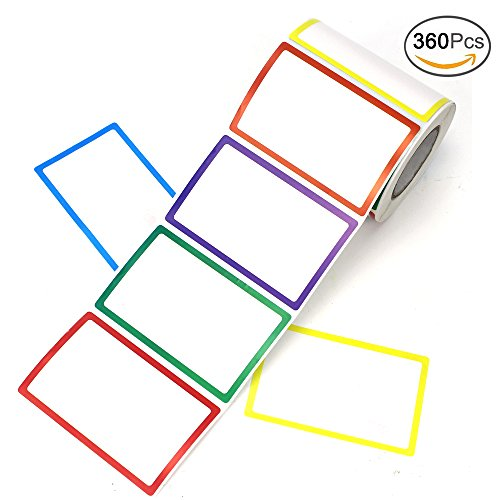 APLANET 360pcs Colorful Name Sticker Tag Labels, 3 1/2