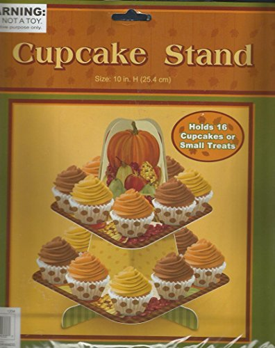 CUPCAKE STAND CARDBOARD CENTERPIECE HOLDS 16 CUPCAKES OR