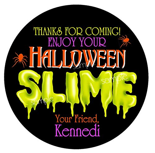 Halloween Slime Stickers Monster Slime Slime Party Slime Favors Personalized Stickers Labels Slime Favors Slime for $<!--$16.00-->
