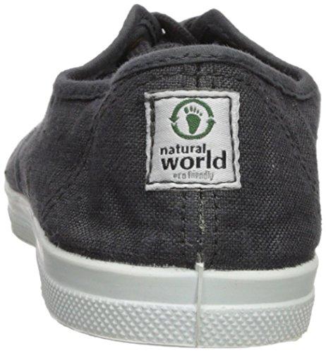 Naturlige Verden Kvinners Blonder-up Sneaker Mørk Antracita