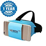 Drumstone Mini VR Box Virtual Reality Headsets with Ultra Polished HD optical lenses 3D glasses Works with all Android or Iphone Devices (1 Year Warranty, Color May Vary)
