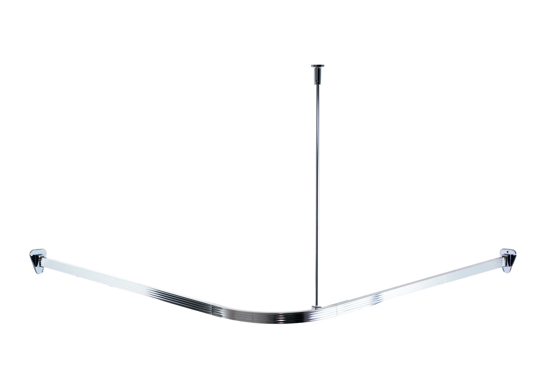 great ridder barre de douche arrondie aluminium brillant x. Black Bedroom Furniture Sets. Home Design Ideas
