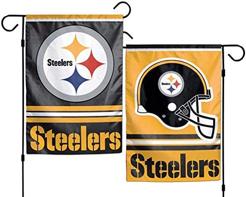 Pittsburgh Steelers Double Sided Garden Flag