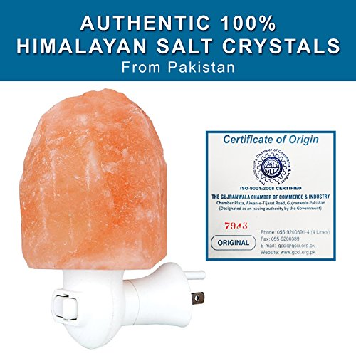 Himalayan Salt Lamp Night Light - Natural Hand Carved 100% Authentic Ionic Pink Salt Crystals by My Perfect Nights (Image #3)