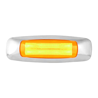 GG Grand General 74750 5 Inch Rect. Prime Amber 4 Led Dual Function Light: Automotive