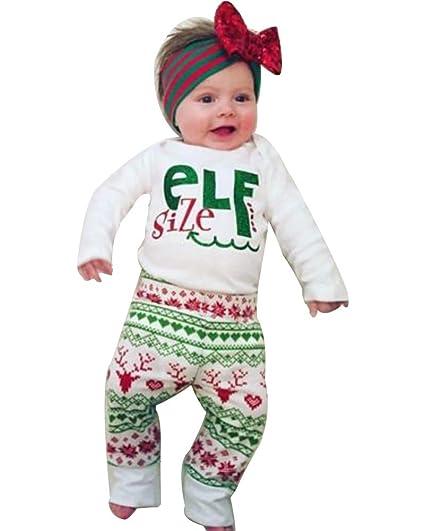 d2ba95563 Miward Baby Boy Girl Xmas Outfit Letter Print Long Sleeve Romper Merry  Christmas Deer Pants Leggings