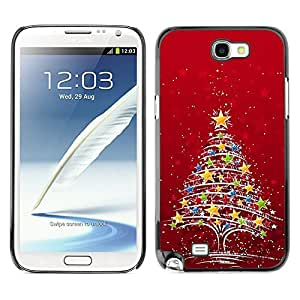 YOYO Slim PC / Aluminium Case Cover Armor Shell Portection //Christmas Holiday Red Star Tree 1192 //Samsung Note 2