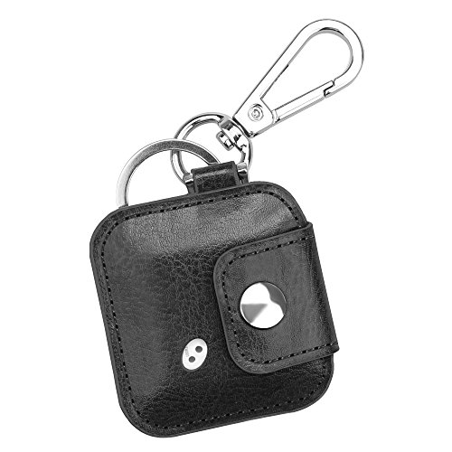 Fintie Tile Mate/Sport/Style Case with Carabiner Keychain, Anti-Scratch Vegan Leather Protective Skin Cover for Tile Mate (2016 Release), Tile Sport, Tile Style Key Finder Phone Finder, Black