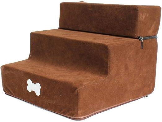 Escalera Para Perros Escalera Para Gatos Escalera Para Mascotas Con 3 Escalones, Escaleras Para Perros Escalera Para Mascotas Plegable Y Lavable, Acceso Al Embarque Para Perros Más Pequeños Gato: Amazon.es: Productos para