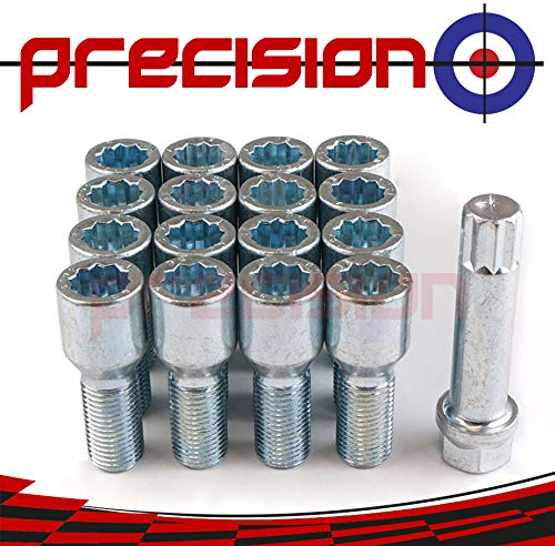 16 x Chrome Tuner Bolts for Ḿini Cooper with Aftermarket Alloy Wheels Part No.16BM425TK+SKEY157