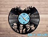 the Rolling Stones music vinyl record wall clock