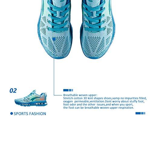 Onemix Dames Lichtgewicht Luchtkussen Outdoor Sport Loopschoenen Lichtblauw