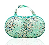 Flower Decorative Pattern Compact Portable Lingerie Bags for Travel with Mesh Pocket by Combination of Life