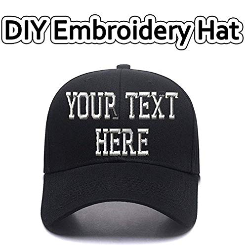 Sports Outdoors Snapback Visors Custom Text Embroidered Dad Hats Personalized Hip Hop Curved Bill Baseball Caps Black