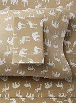 Eddie Bauer Buckhead Ridge Flannel Sheet Set Twin