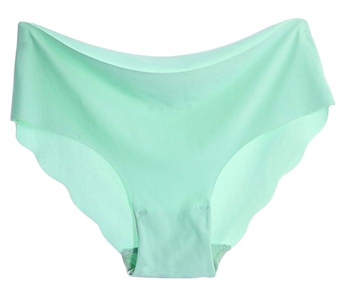 TagoWell verano mujeres Color sólido diseño de ondas sin costuras slip ropa interior panty