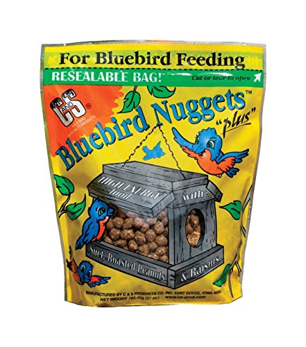 C & S 791043470539 Products Blue Bird Nuggets Plus Beef Suet,Corn,Peanuts,Raisins ()