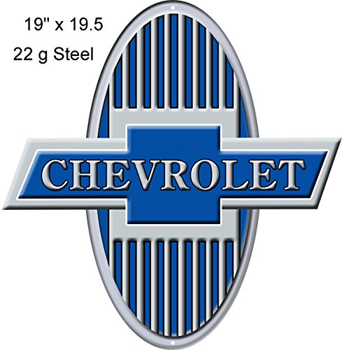 Garage Art Signs Chevrolet Reproduction Laser Cut Out Sign 19x19.5