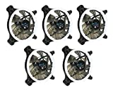 led 120mm fan - APEVIA 512L-CWH 120mm Silent Dual Rings White LED Fan with 32 x LEDs & 8 x Anti-Vibration Rubber Pads (5 Pk)