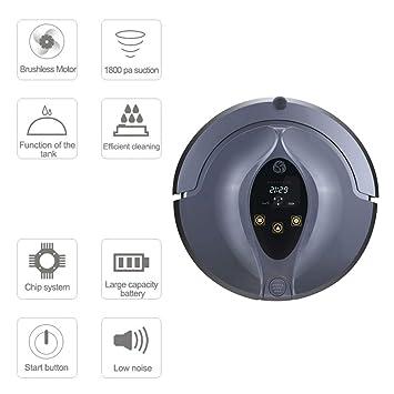 Lu Robot vacío Control Remoto Alfombra de vacío y Duro Piso Limpiador Barrido Inteligente Robot Aspirador de Retorno automático de Carga para Varios ...