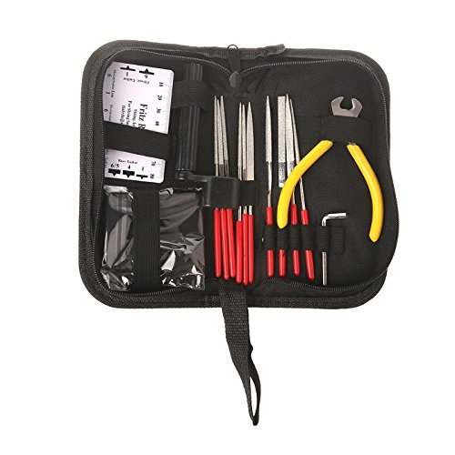 Guitar Repair Kit,AMZZ Set of 14pc Repair & Maintenance Tools With Guitar Needle File/String Action Ruler Gauge/Guitar String winder and cutter/Guitar Wrench For Acoustic Guitar Ukelele Banjo