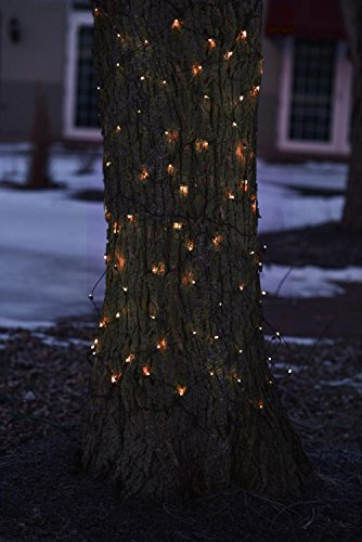 2' x 8' Orange LED Net Style Tree Trunk Wrap Christmas Lights - Brown Wire by Northlight (Image #2)