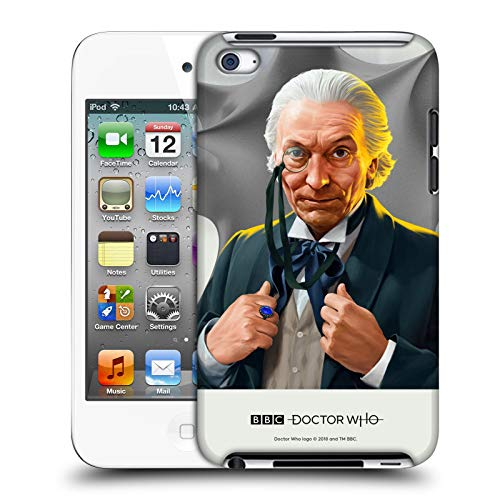 Official Doctor Who William Hartnell Solo Portraits Hard Back Case Compatible for Apple iPod Touch 4G 4th Gen (Dr Who Ipod 4)
