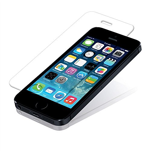 3 en 1 Smart Pack pour iPhone SE, de haute qualité en verre trempé 9H, Ultra Slim Crystal Clear Transparent Gel Case & Cable Data / Power - 3in1 Paquet