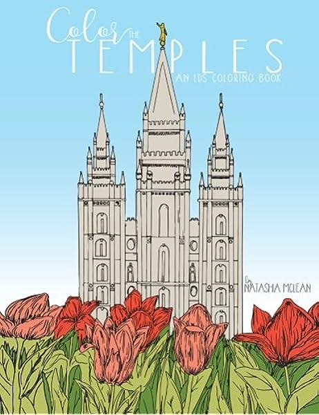 Amazon Com Color The Temples An Lds Coloring Book 9781944515065 Steadfast Publishing Mclean Natashia Books