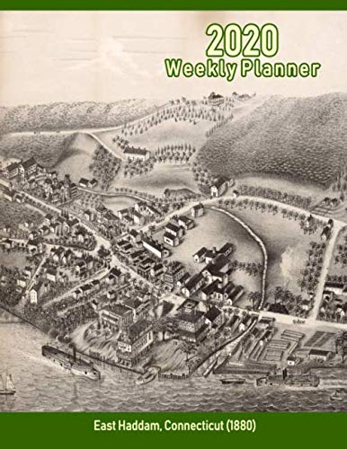 2020 Weekly Planner: East Haddam, Connecticut (1880): Vintage Panoramic Map Cover