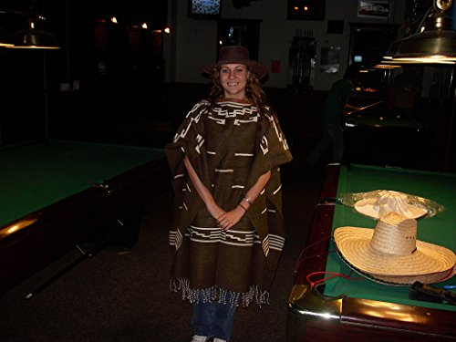Clint Eastwood Spaghetti Western Original Pattern 100% Wool Poncho w Leather Hat by Sharpshooter (Image #4)