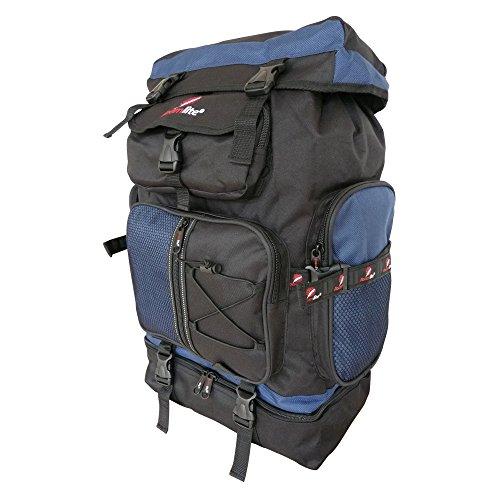 Roamlite - Mochila de Senderismo Grande 60 a 65 Litros Hombre y Mujer - Peso 1,1 kg Tamaño 59 x 33 x 20 cm - Macuto Para Trekking Montaña Camping Viajes y ...