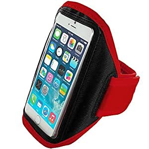 Accessory Planet(TM) Red Gym Sports Running Armband Case for Apple iPhone 6 Plus (5.5)