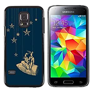 PC/Aluminum Funda Carcasa protectora para Samsung Galaxy S5 Mini, SM-G800, NOT S5 REGULAR! Stars Space Dream Rocket Theatre / JUSTGO PHONE PROTECTOR