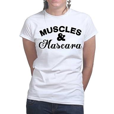 e7ca593f Muscles and Mascara - Sports Training Gym Ladies T Shirt X-Large White:  Amazon.co.uk: Clothing