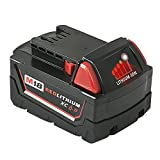 Mrupoo 18V 6000mah Lithium-Ion Replacement Battery with LED indicator for Milwaukee Cordless Power Tools M18B 48-11-10 48-11-1815 48-11-1820 48-11-1828 48-11-1840 48-11-1850