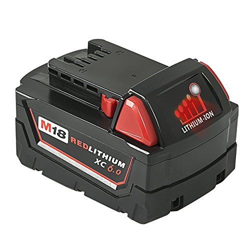 Mrupoo 18V 6000mah Lithium-Ion Replacement Battery with LED indicator for Milwaukee Cordless Power Tools M18B 48-11-10 48-11-1815 48-11-1820 48-11-1828 48-11-1840 48-11-1850 by Mrupoo