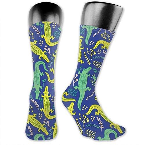 - Build U Athletic Crew Tube Socks Novelty Funny Colorful Alligator Mini Soft Stockings