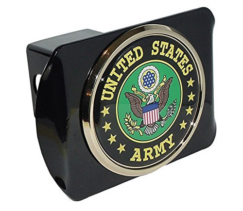 Elektroplate Army (Green) ALL METAL Black Hitch Cover