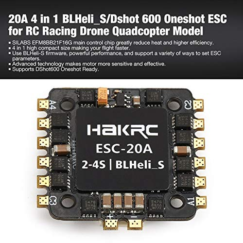 Wikiwand 20A 4 in 1 BLHeli_S/Dshot 600 Oneshot ESC for RC Racing Drone Quadcopter Model by Wikiwand (Image #3)