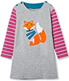 TTYAOVO Girls Cotton Long Sleeve Striped Cartoon Toddler and Baby Girl Casual Dress Size 18-24 Months Gray&Pink