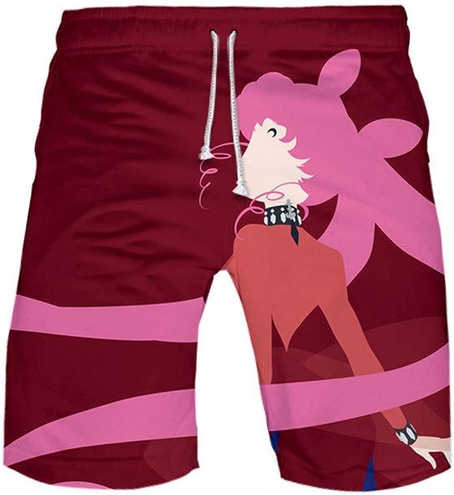 BOBD-DW Sailor Moon Hombre Pantalones Cortos De Playa Secado Rápido Bañador Estampado Beach Shorts Swim Pantalones Cortos para Hombre