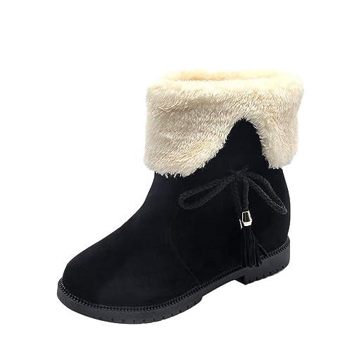 TianBin Zapatos de Invierno de Mujer de Las Señoras Botas de Nieve de Martin Botas Cálida Botines Talón Plano: Amazon.es: Zapatos y complementos